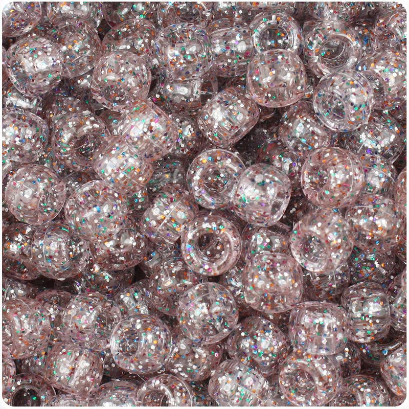 Crystal Rainbow Sparkle 9mm Barrel Pony Beads (500pcs)
