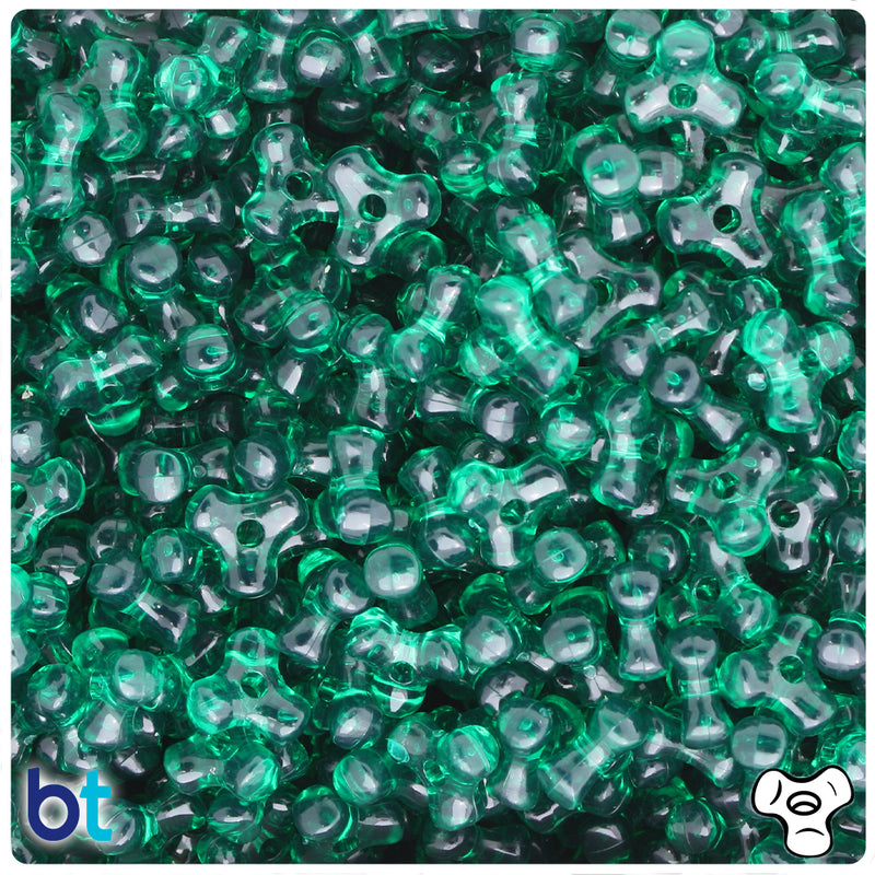 Forest Green Transparent 11mm TriBead Plastic Beads (600pcs)