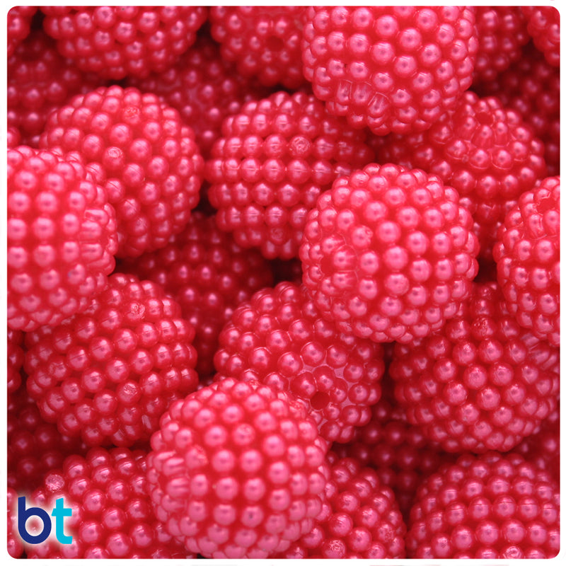 Red Pearl 20mm Acrylic Berry Beads (10pcs)