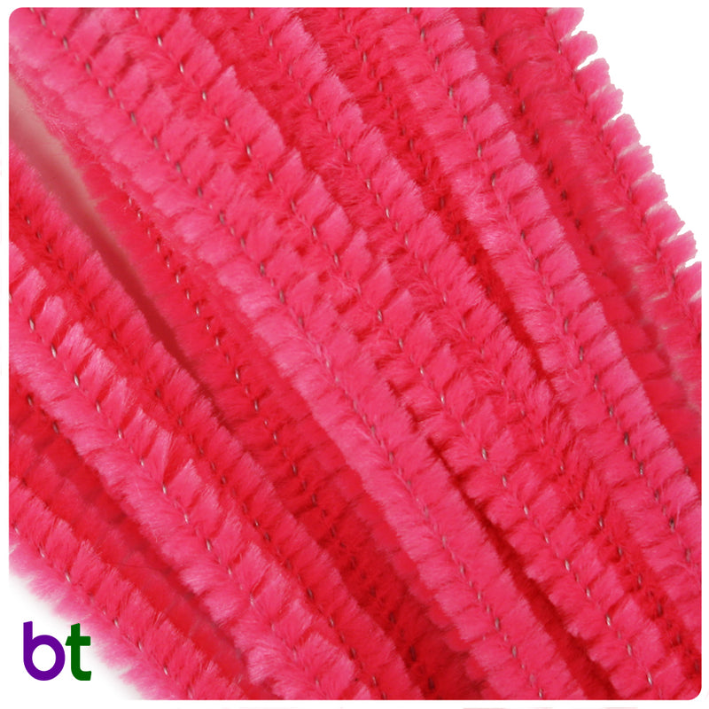Hot Pink 6mm Chenille Stems (25pcs)