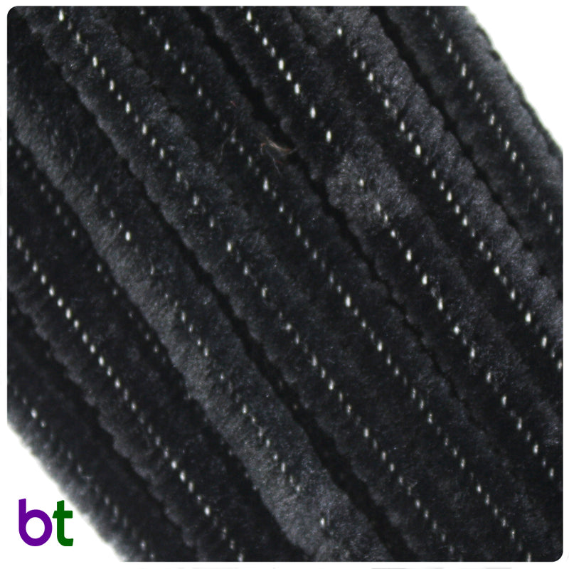 Black 6mm Chenille Stems (25pcs)