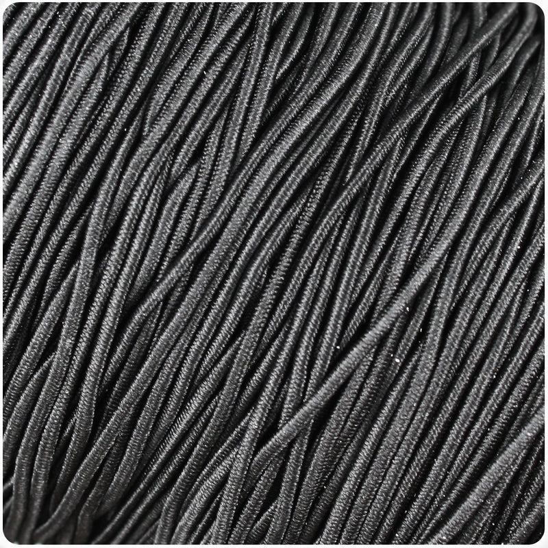 Black 1mm Round Elastic Cord (100m)