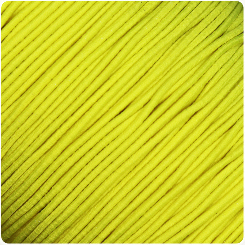 Yellow 1mm Round Elastic Cord (100m)