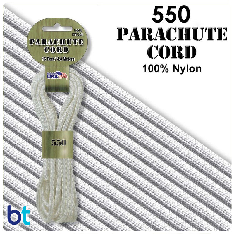 White 550 Parachute Cord (16ft)