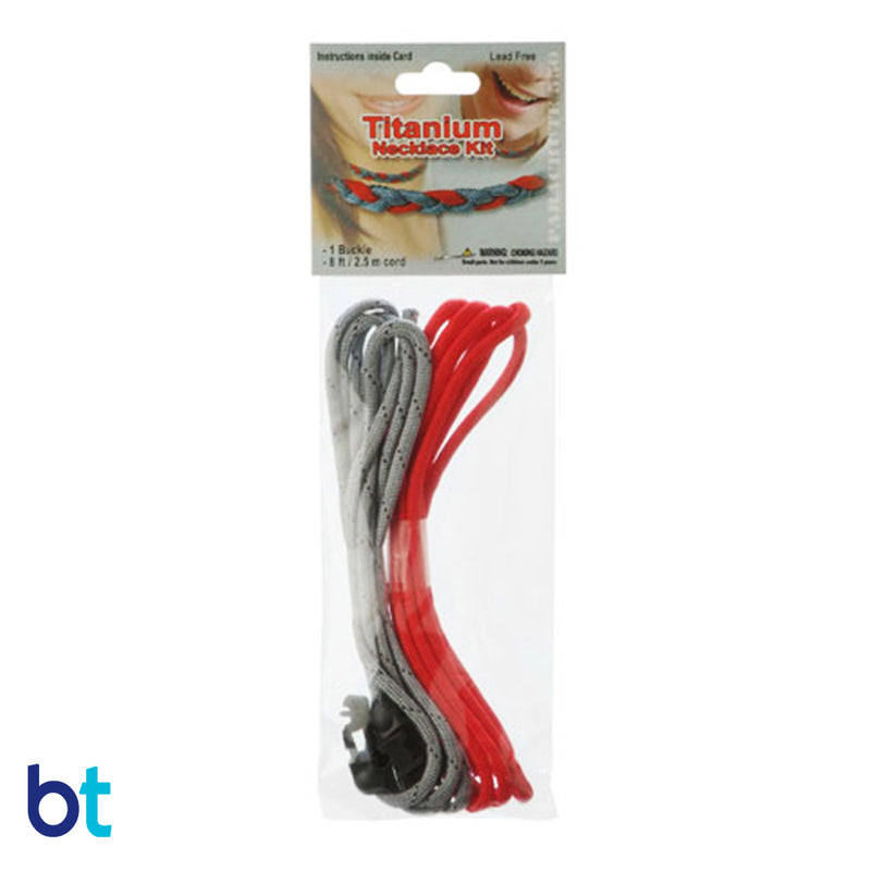 Titanium Red Parachute Cord Necklace Kit (1pc)