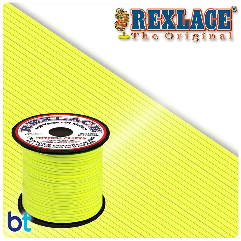 Neon Yellow Rexlace Plastic Lacing  (100yds)