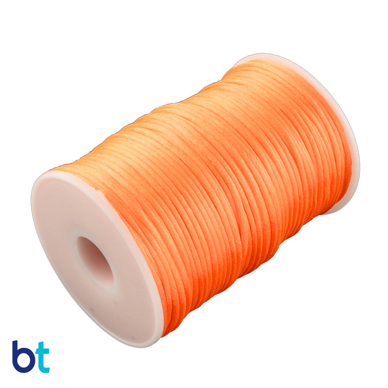 Orange 2mm Satin Rattail Cord (90m)