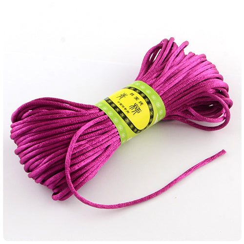 Violet 2mm Nylon Satin Cord (20m)