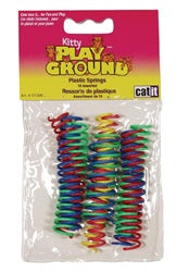 Catit Kitty Playground Cat Toy - Mini Silly Plastic Springs - 10 pieces