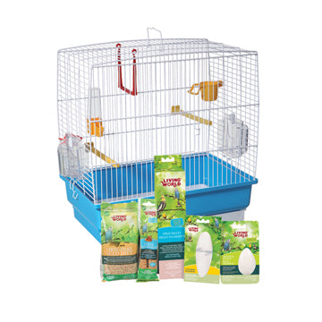Living World Budgie Starter Kit - 40 cm L x 25 cm W x 41 cm H (15.75in x 9.8in x 16in)