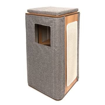 Vesper Cubo Tower - Stone - 42.5 x 42.5 x 87.5 cm (17 x 17 x 34 in)