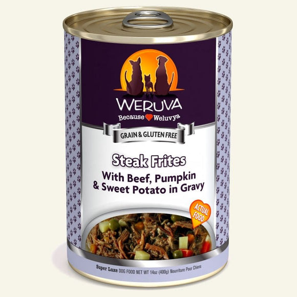 Dog Steak Frites Canned Dog Food Weruva