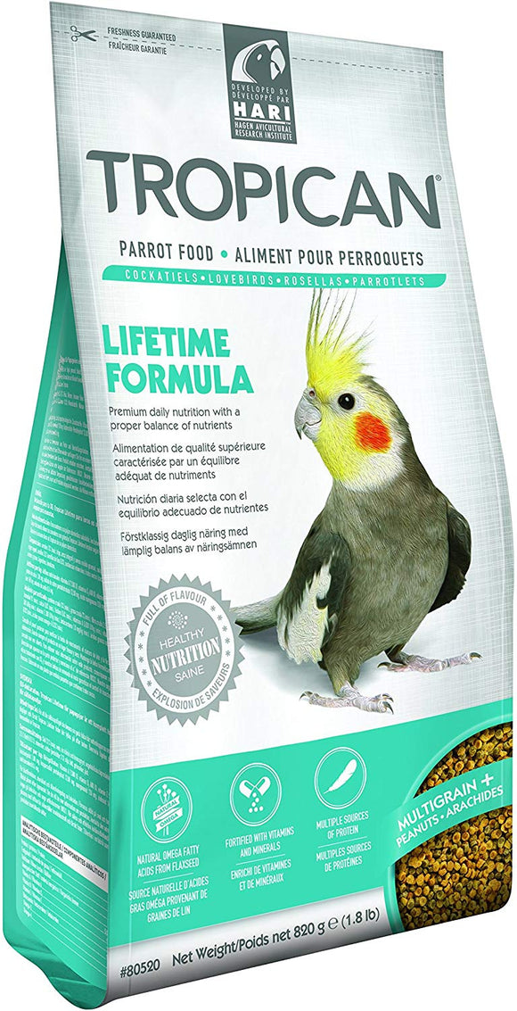 TROPICAN LIFETIME COCKATIEL MAINT 1.8 kg pack of 2