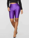Shiny Leggings Shorts for Women