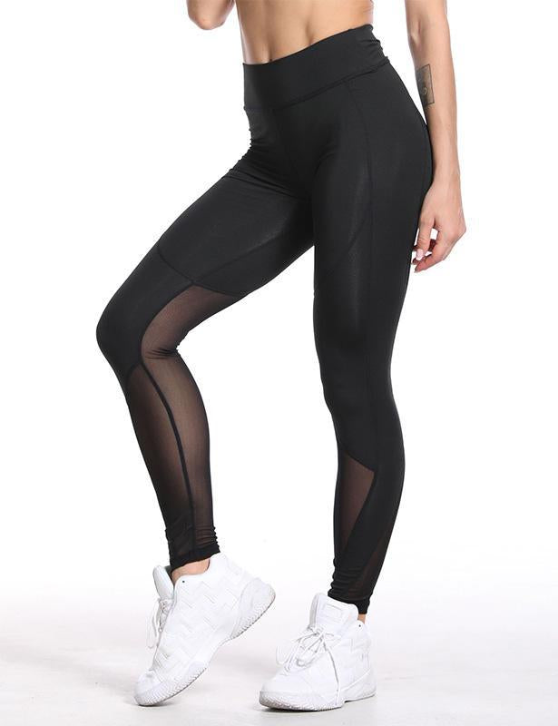 High Waist Mesh Leggings for Women