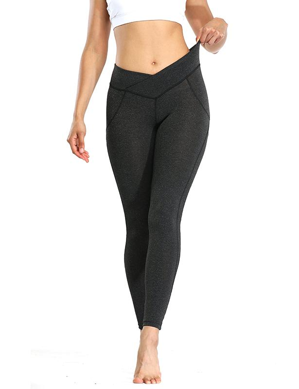 Womens Seamles Yoga Legging Ruched Tights