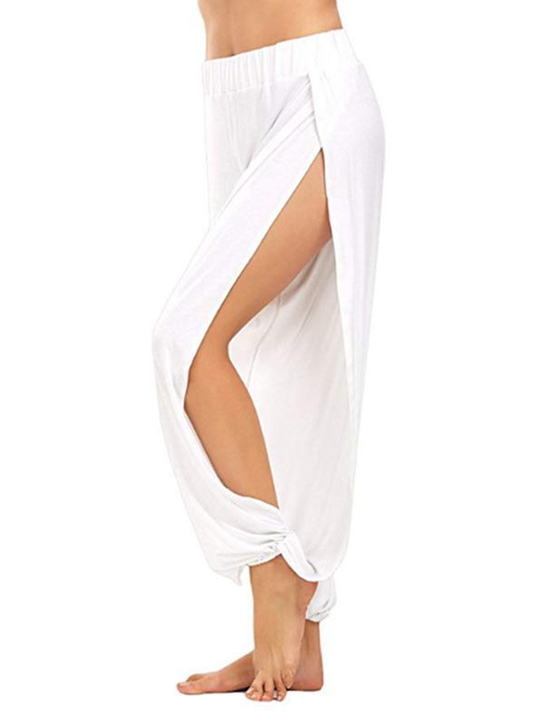 High Slit Harem Pants for Women