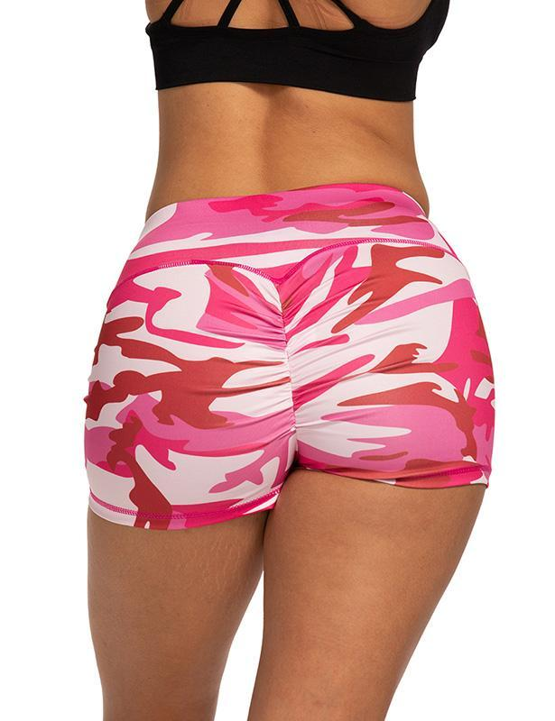 Scrunch Booty Camouflage Yoga Workout Shorts