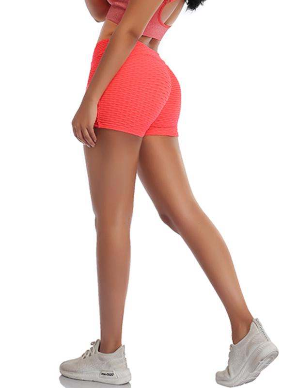 High Waist Stretchy Sports Yoga Ruched Shorts