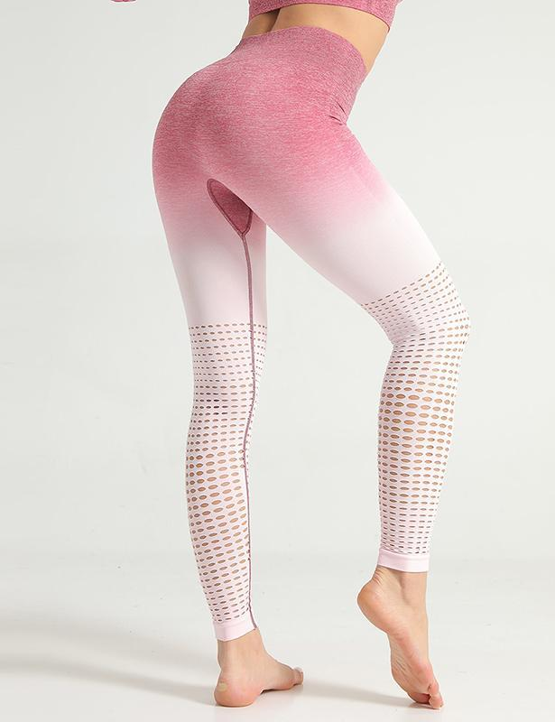 Women Tie-Dyed Hollow Breathable Yoga Pants