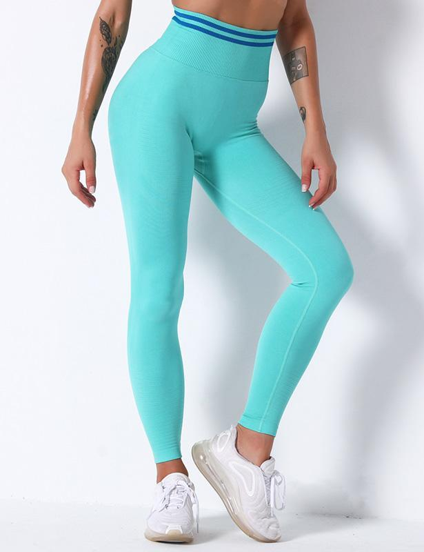Ultra-High Waist Side Stripes Sports Leggings
