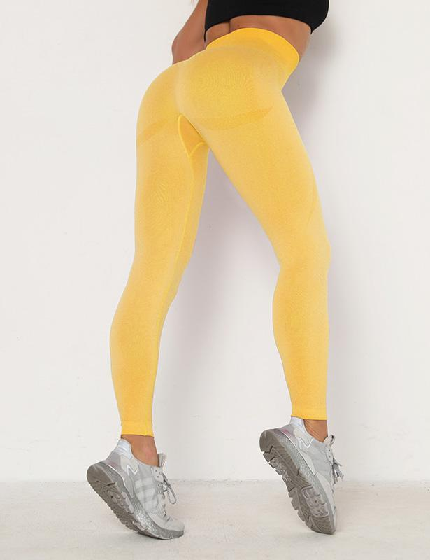High Waist Seamless Smile Scrunch Butt Lift Leggings