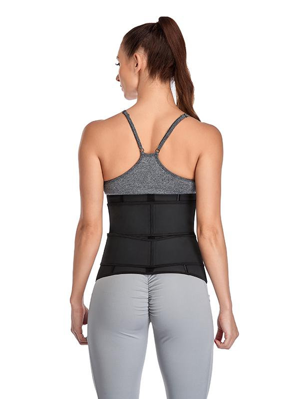 Latex Sauna Sweat Double-Pull Waist Trainer for Weight Loss