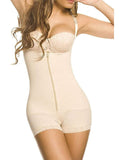Open Bust Boyshort Bodysuits with Latex Interlayer