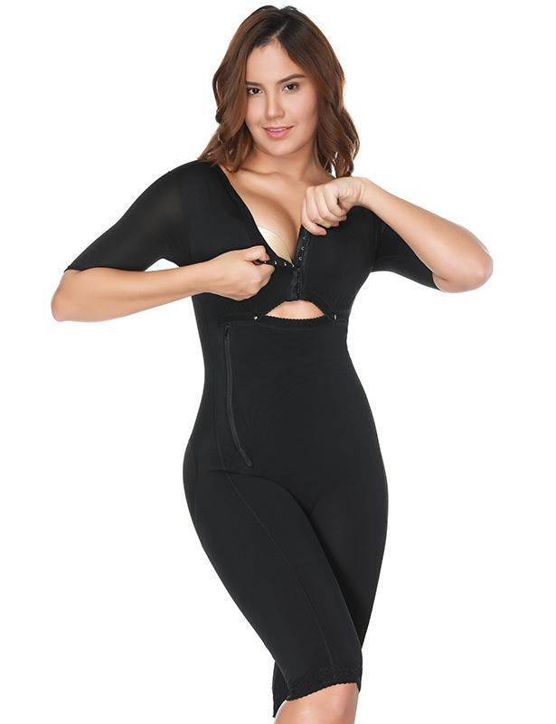 Full Body Mid-Thigh Bodysuit with Arm Shaper