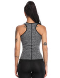 Neoprene Sauna Sport Vest with Adjustable Waist Trainer Belt