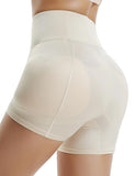 Mid Waist Seamless Control Panties with Hip Enhancer Padded