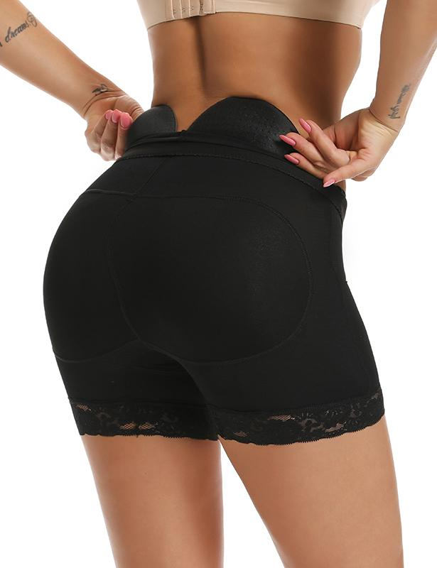 High-Waisted Seamless Padded Girl Shorts with Butt Lifter