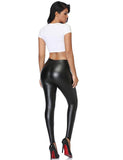 Sleek Faux Leather Leggings