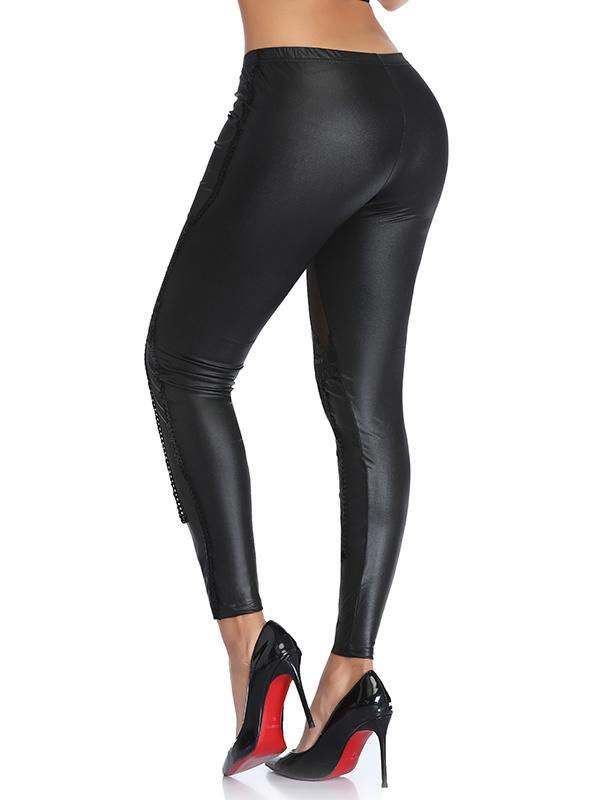 Gothic Faux Leather Leggings