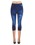 Butterfly Denim Print  Jeans Legging