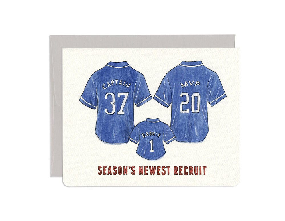 Season's New Recruits Baby Card