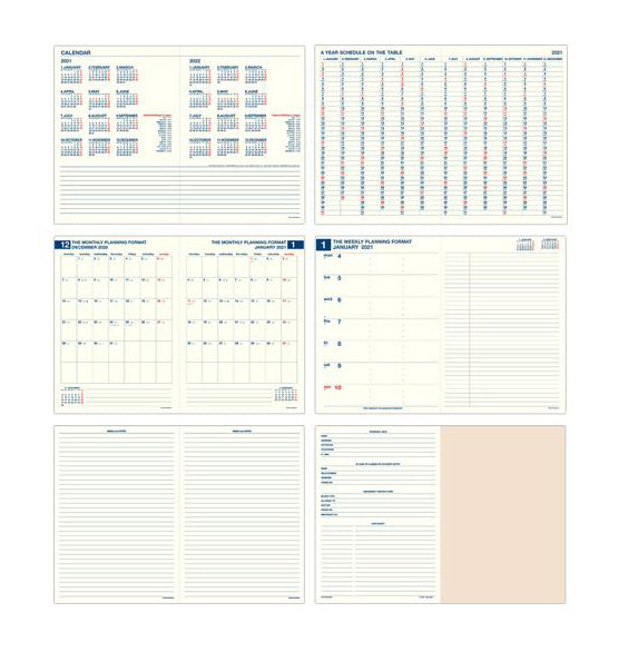 Hightide Minute Manager 2021 A5 Planner
