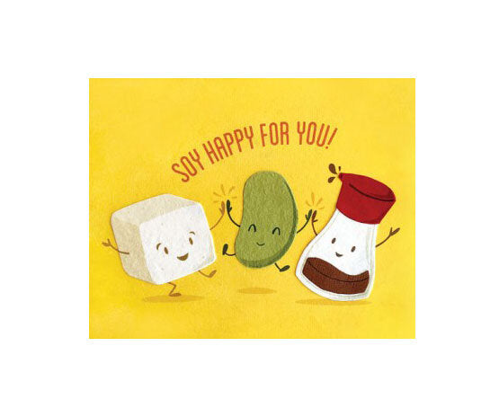 Soy Happy For You Congrats Card - M.Lovewell