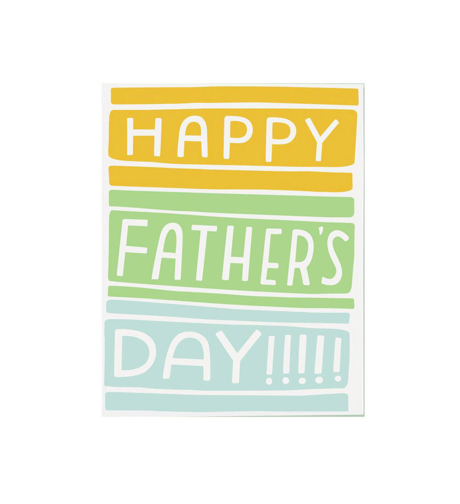 Colorblock Dad Father's Day Card