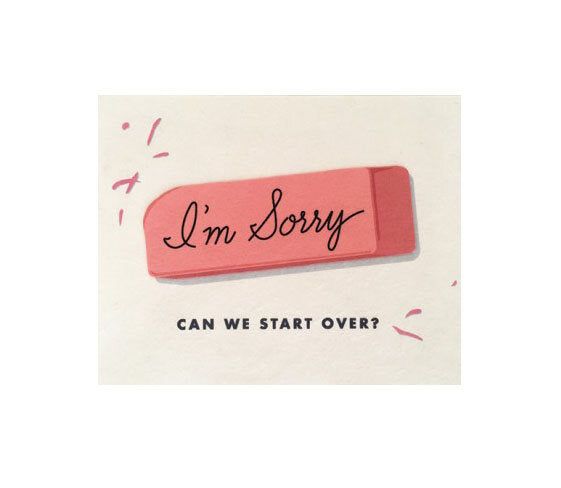 I'm Sorry Eraser Card - M.Lovewell
