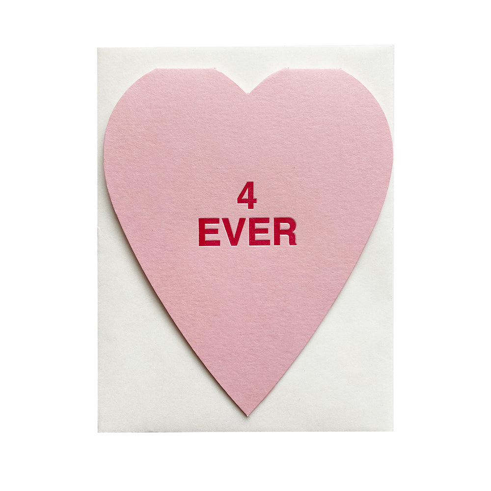 4 Ever Conversation Heart Card