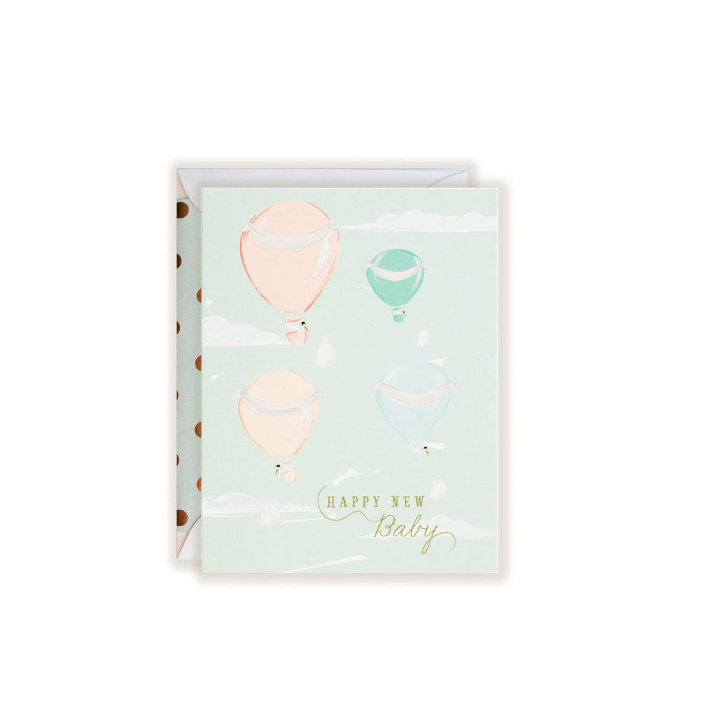 Air Balloon Baby Card