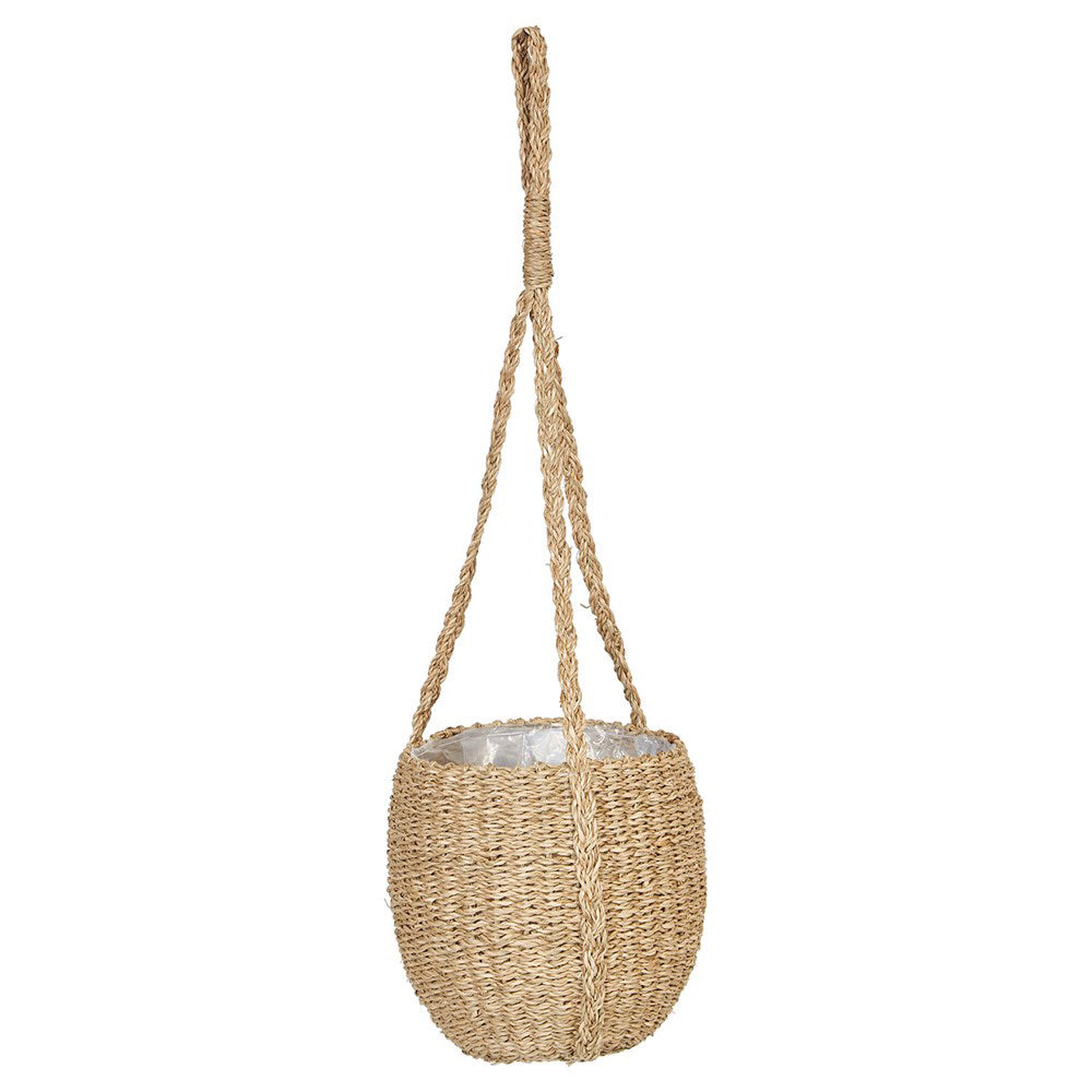 "8"" Hanging Seagrass Basket Planter"