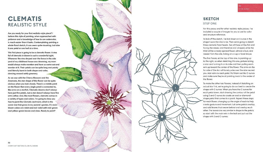 Everyday Watercolor Flowers by Jenna Rainey - M.Lovewell