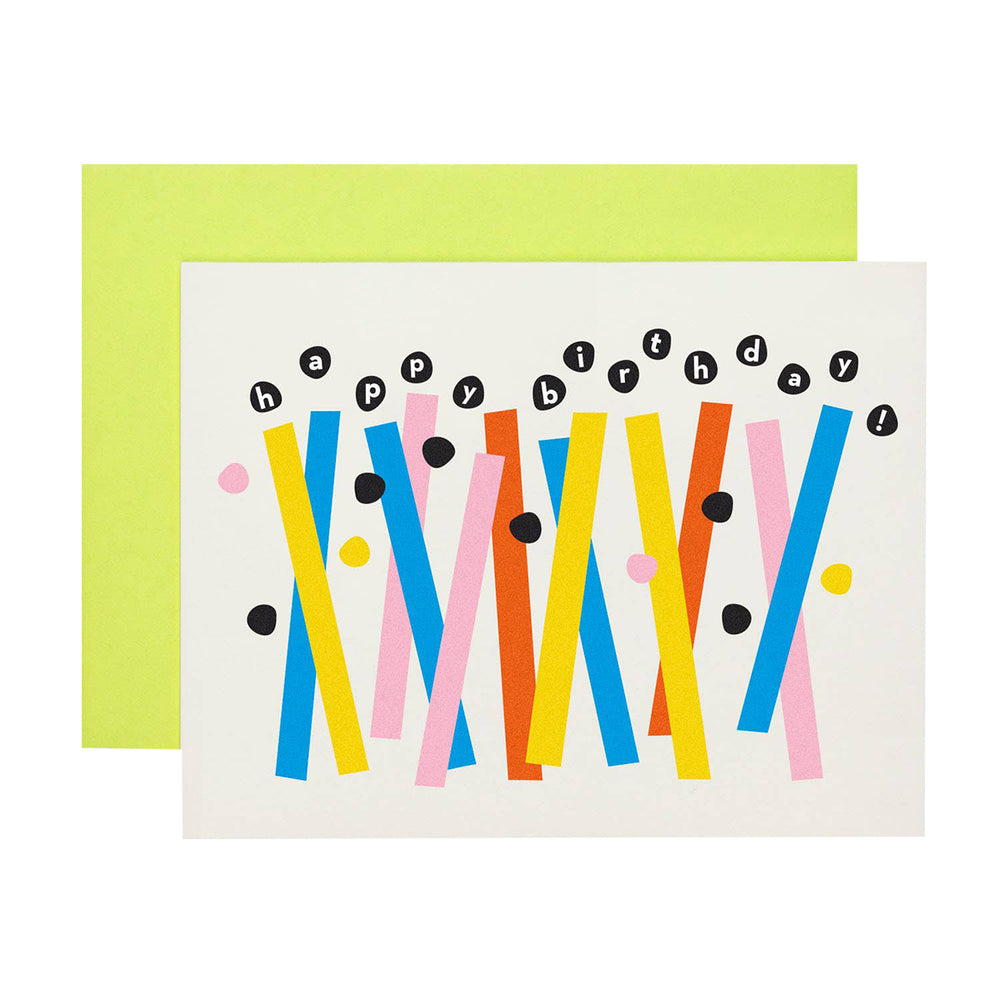 Abstract Birthday Candles Card