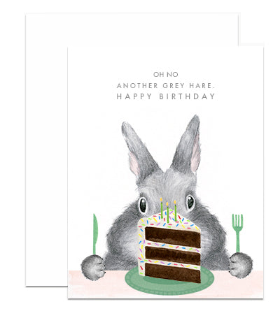 Another Grey Hare Birthday Card