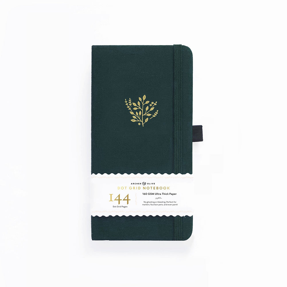 Archer & Olive Traveler's Dot Grid Notebook - Deep Green