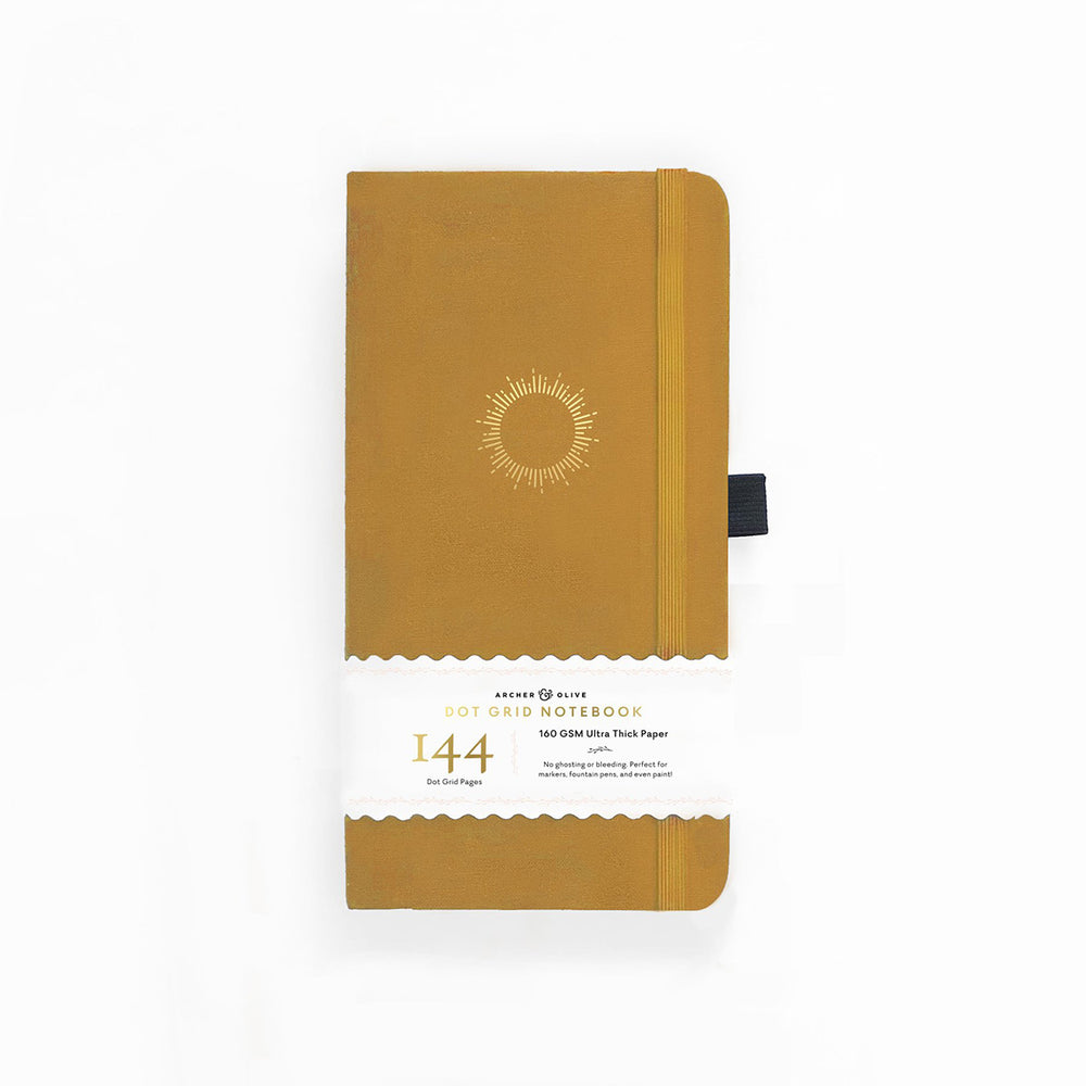 Archer & Olive Traveler's Dot Grid Notebook - Sunburst