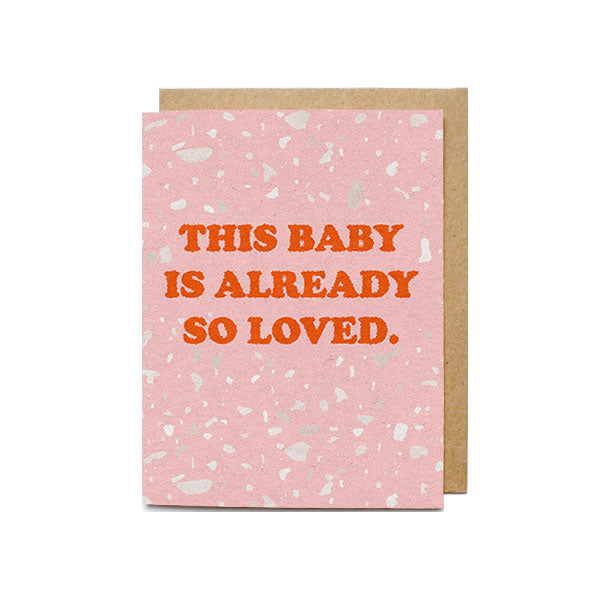 Baby So Loved Card - M.Lovewell