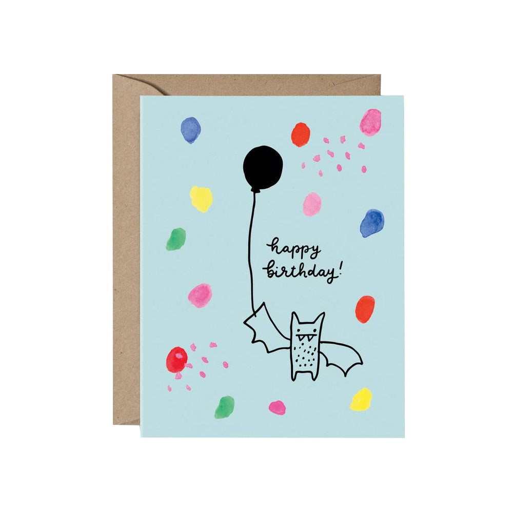 Happy Birthday Bat Card